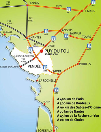 ou se trouve le puy du fou carte - Photo