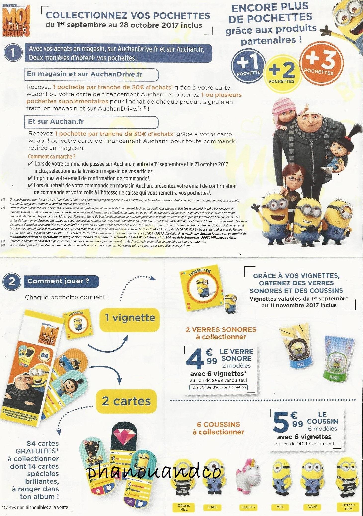 Moi Moche et méchant Minion cartes Auchan 1 1473a0dc756